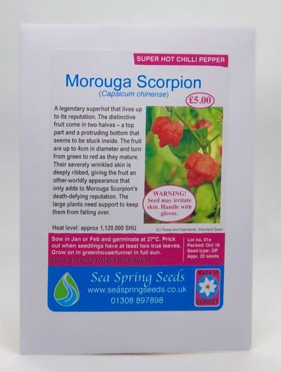 Image of Morouga Scorpion Chilli Seeds