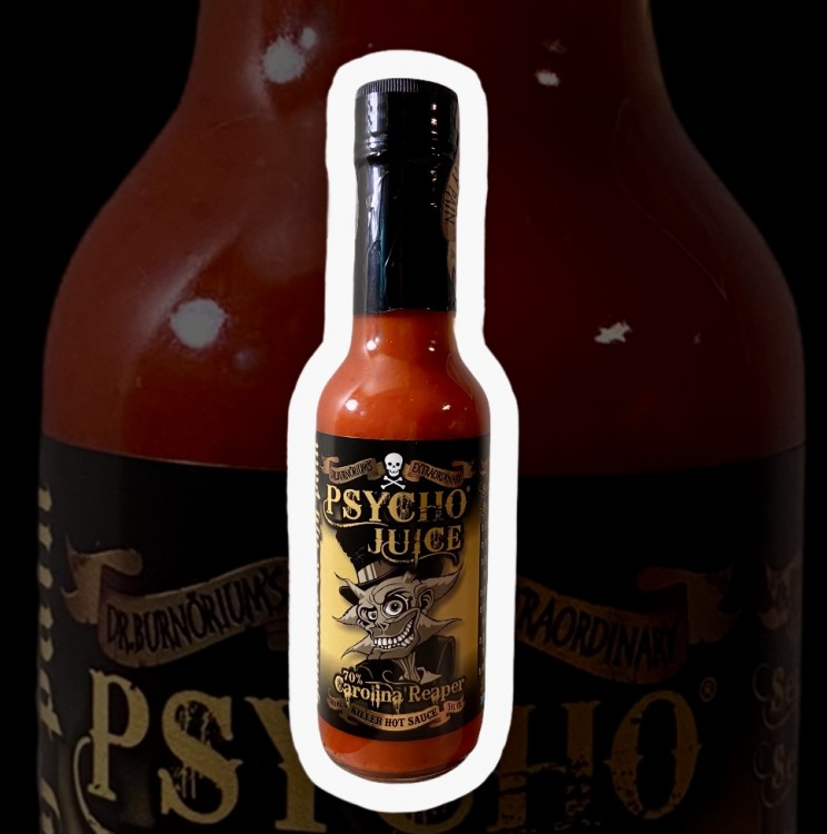 Image of Psycho Juice 70% Carolina Reaper Killer Hot Sauce