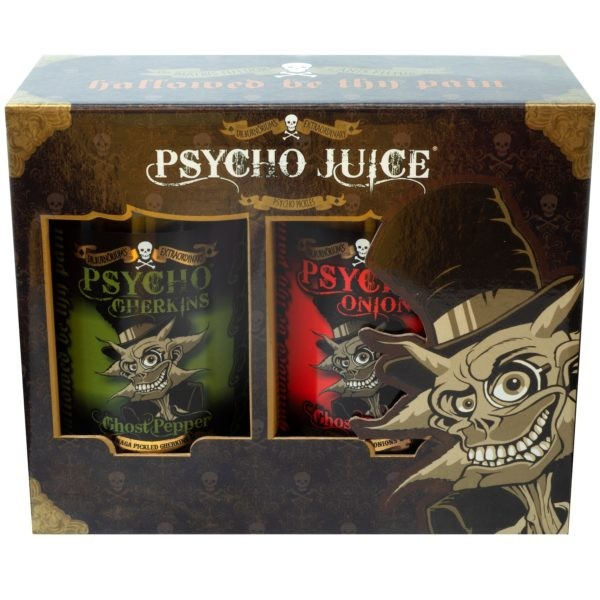 Image of Psycho Pickled Onion & Gherkin Gift Box